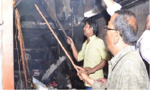 Shop Fire in Aminabad