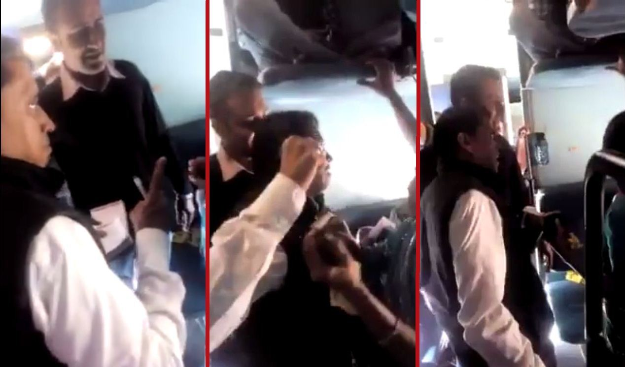 ticket collector threatens, abuses woman