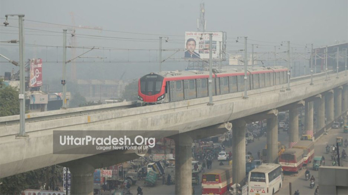 lucknow metro first train