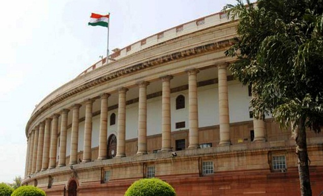 Lok Sabha adjourned after protests by Opposition.