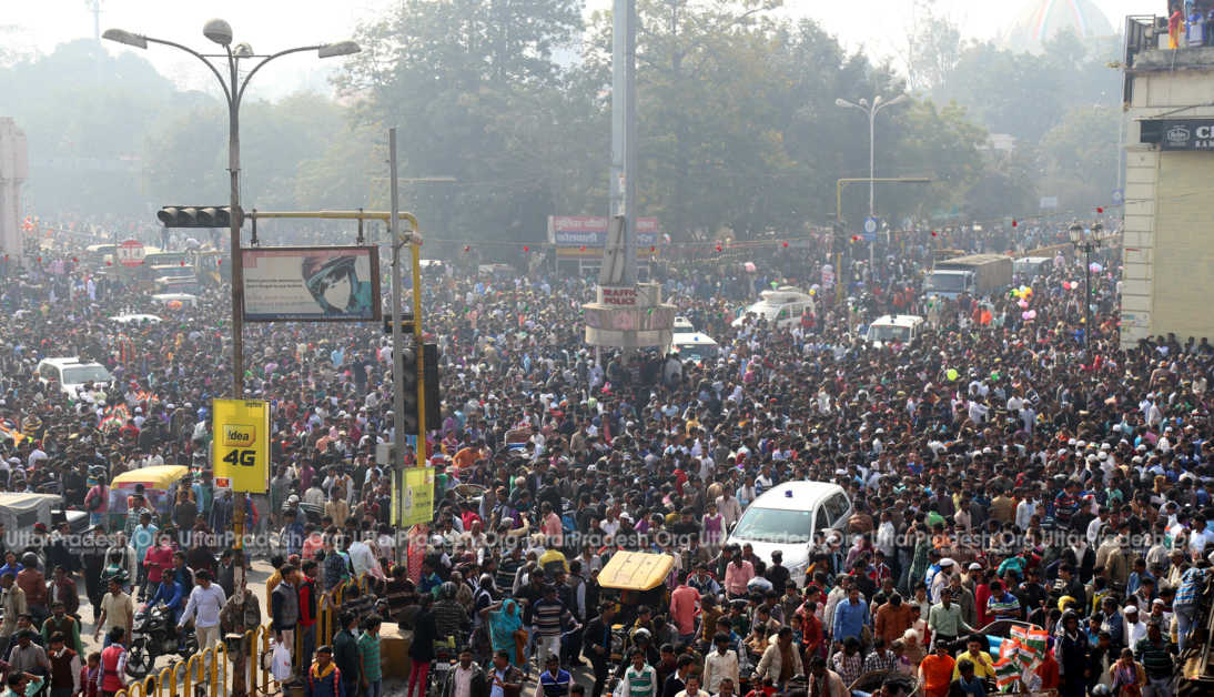 crowd in lucknow republic day parade 2017