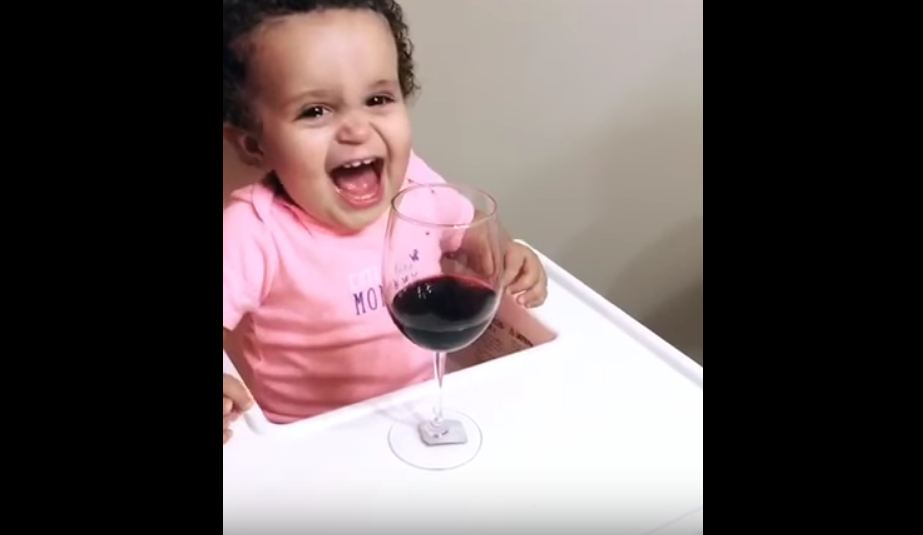 Baby Drinking Wine Video