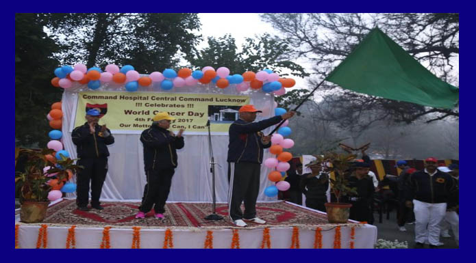 cancer awareness walk organised Central Command lucknow