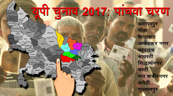 fifth phase polling percentage 2017