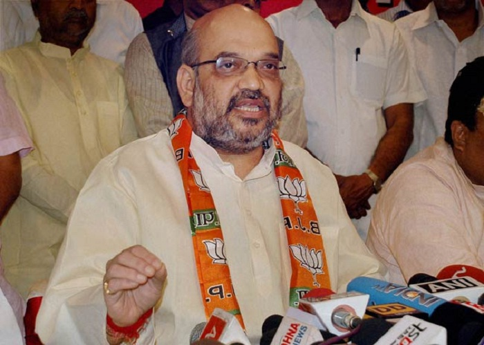 amit shah addressed press conference