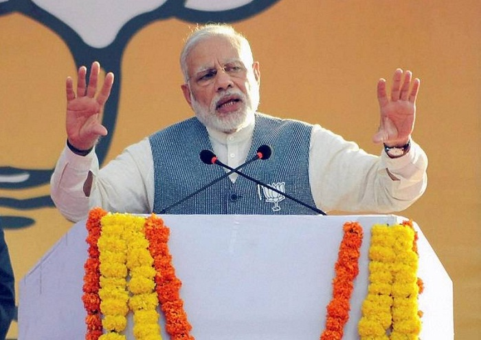 PM narendra modi attends BJP oath ceremony