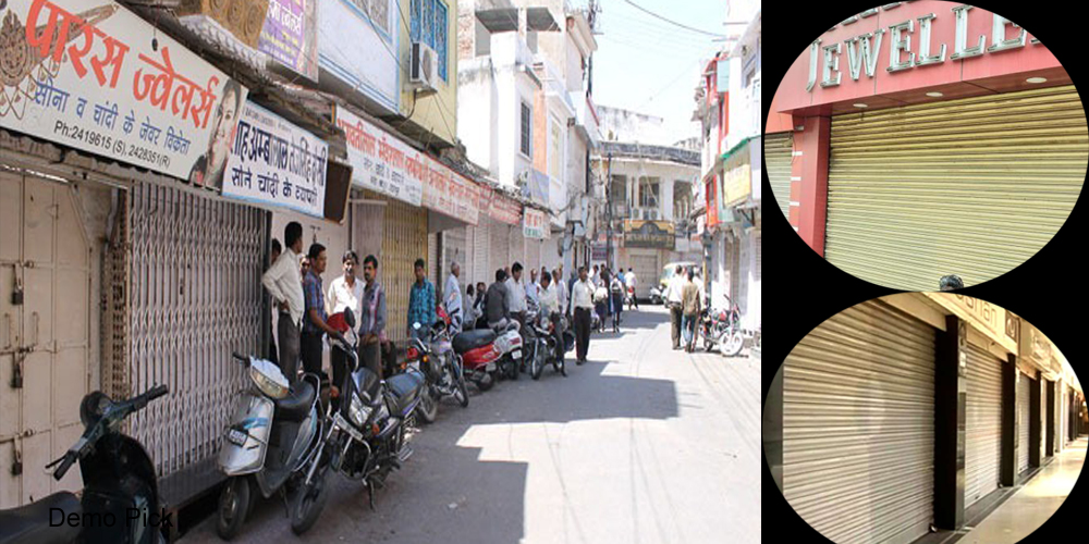 shutter down of jewellery shops in lucknow