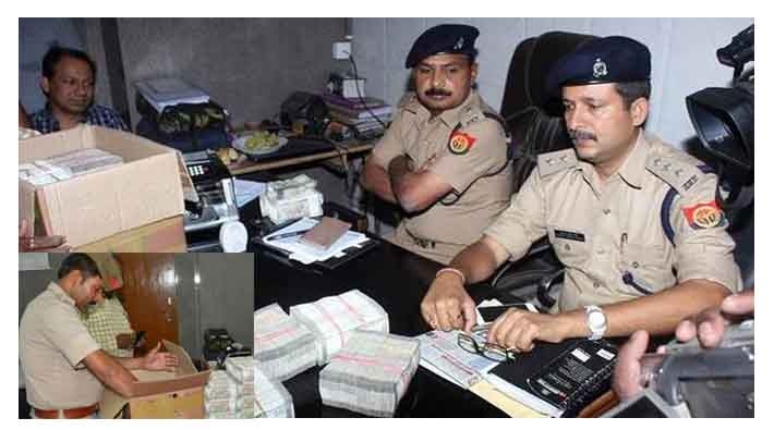 lucknow police recovered 7.5 crore rupees