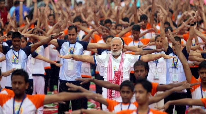 21 photos of pm modi on June 21 on international yoga day 2017