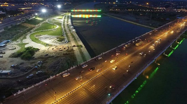 gomti river front work of will now be completed in less cost