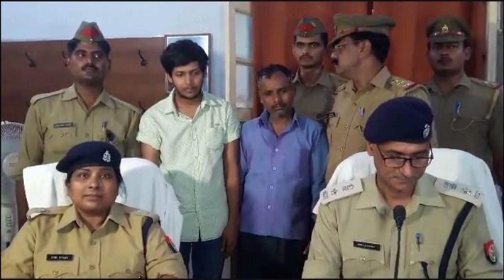 hardoi police arrested son of block chief with illegal liquor of one million
