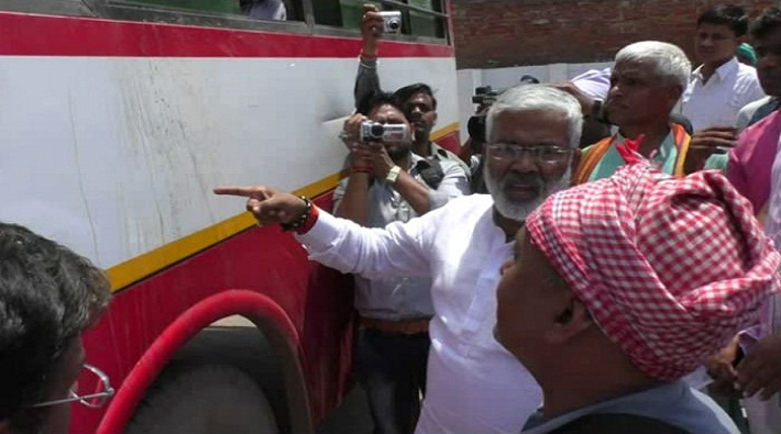 swatantra dev singh conducted surprise checks of bus station in farrukhabad