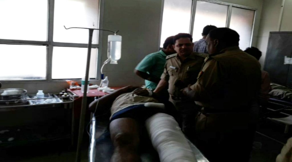 police jeep accident in bahraich