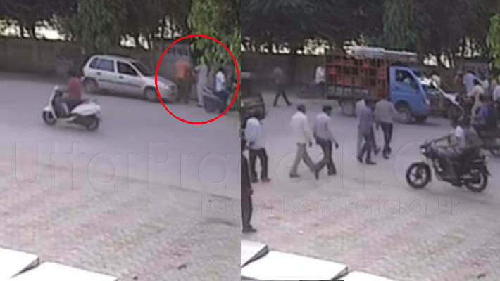 Ias slaped to pac jawan in aligarh