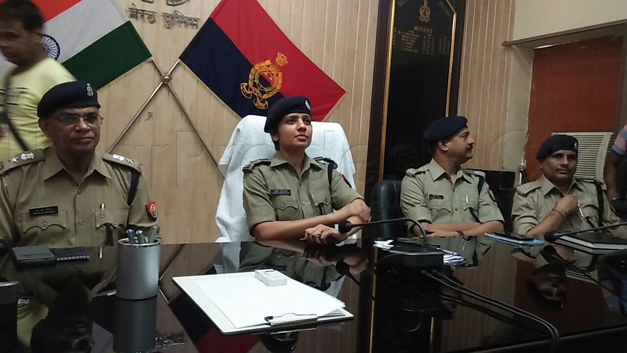 ips manzil saini takes charge as new ssp meerut