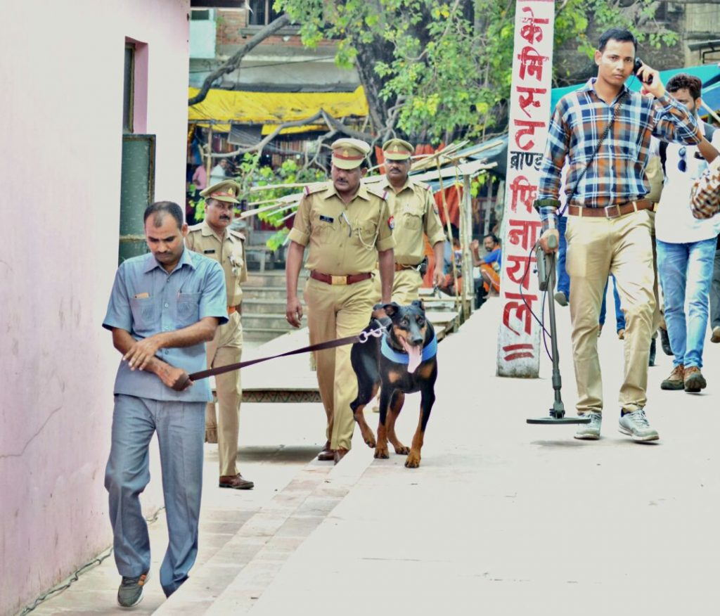 security checking at gola gokarannath temple
