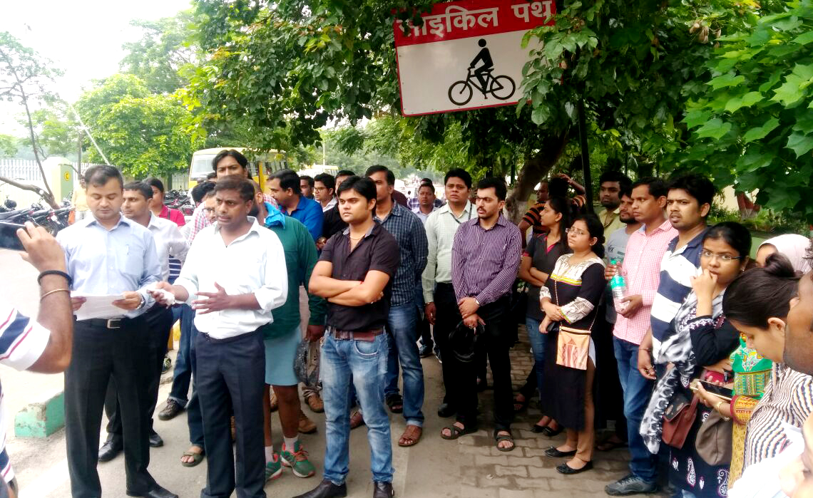 tcs engineers protest in lucknow
