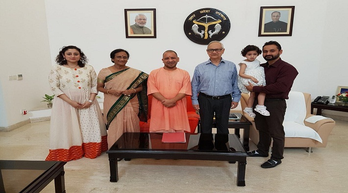 cm yogi congratulates rita bahuguna on her birthday