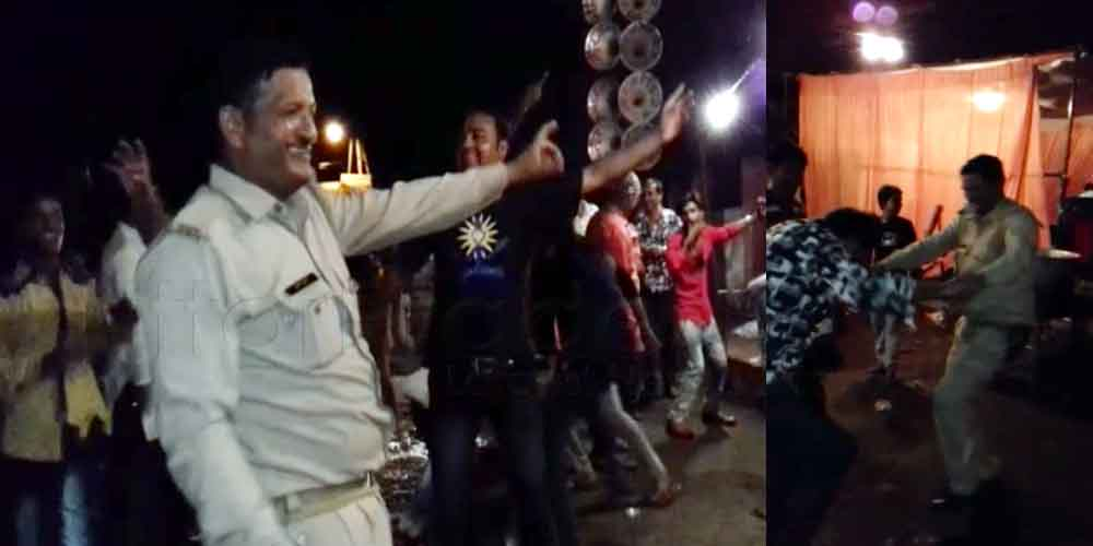 dance with up police cop in agra