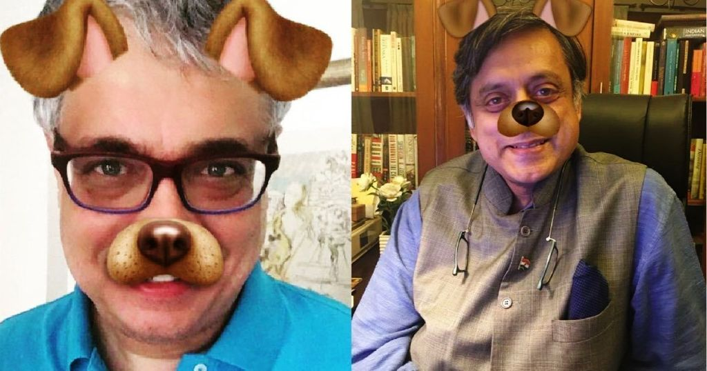 """Pics: Why are Congress leaders using """"dog filter""""?"""