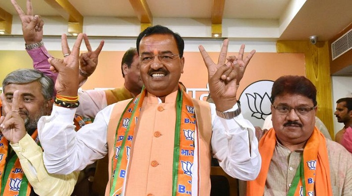 keshav maurya deputy cm up review meeting about roads development lucknow