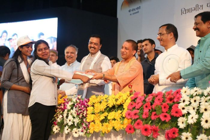 yogi honored mayawati