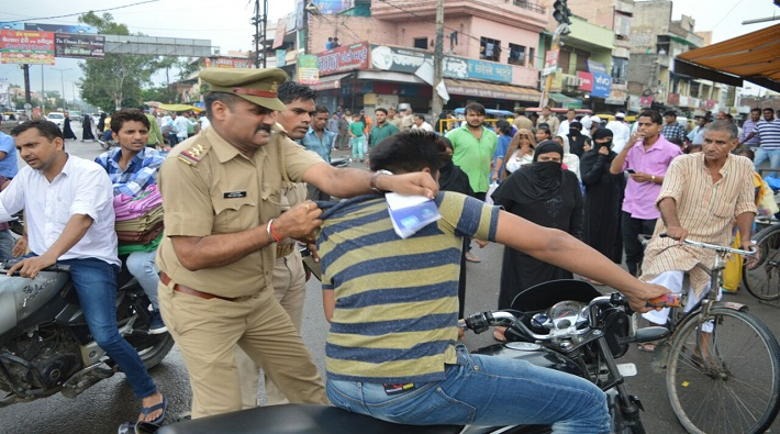 meerut police inspector hooliganism during checking campaign