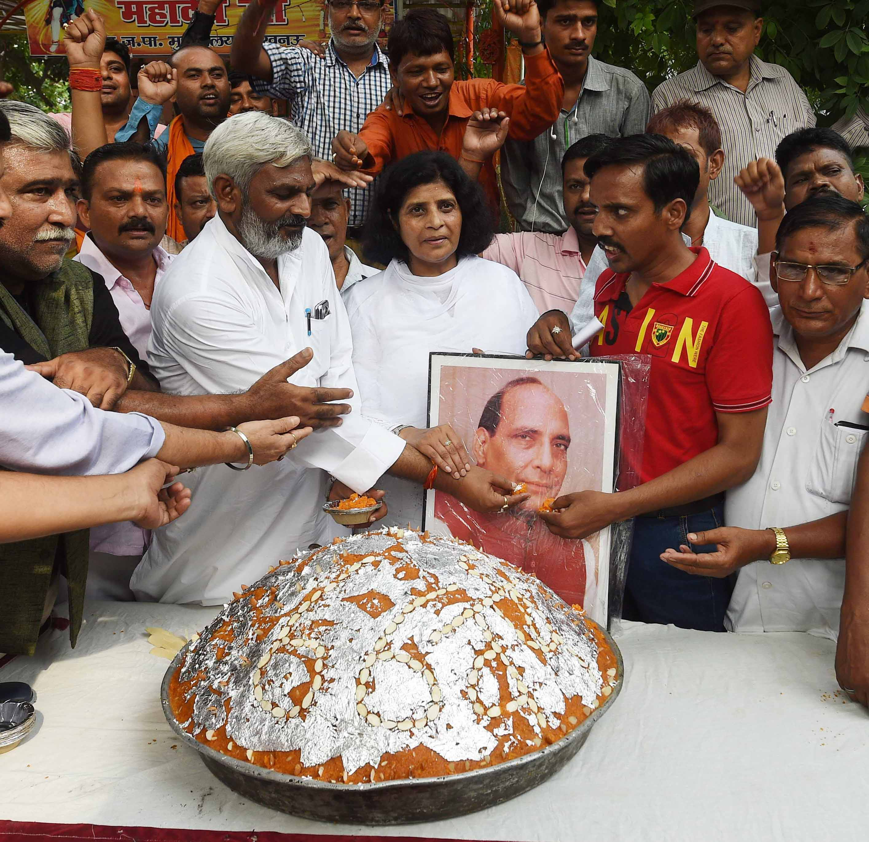Image result for Rajnath Singh on the birthday