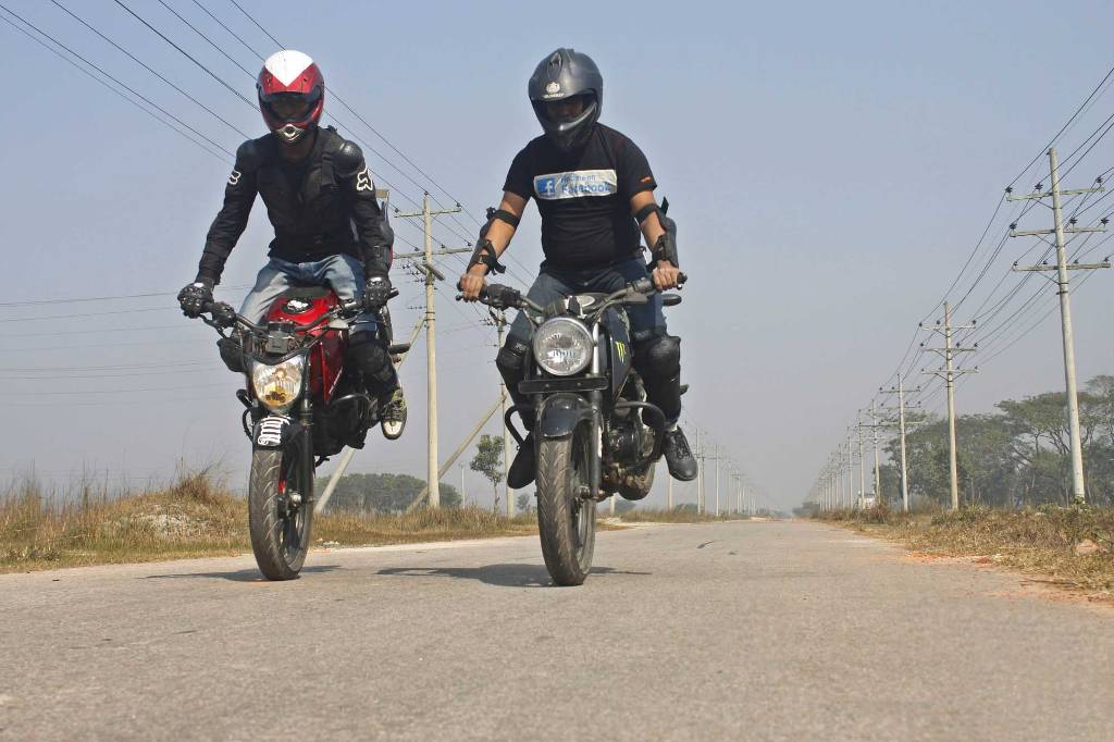 60% Indians run the bike while doing deadly acts