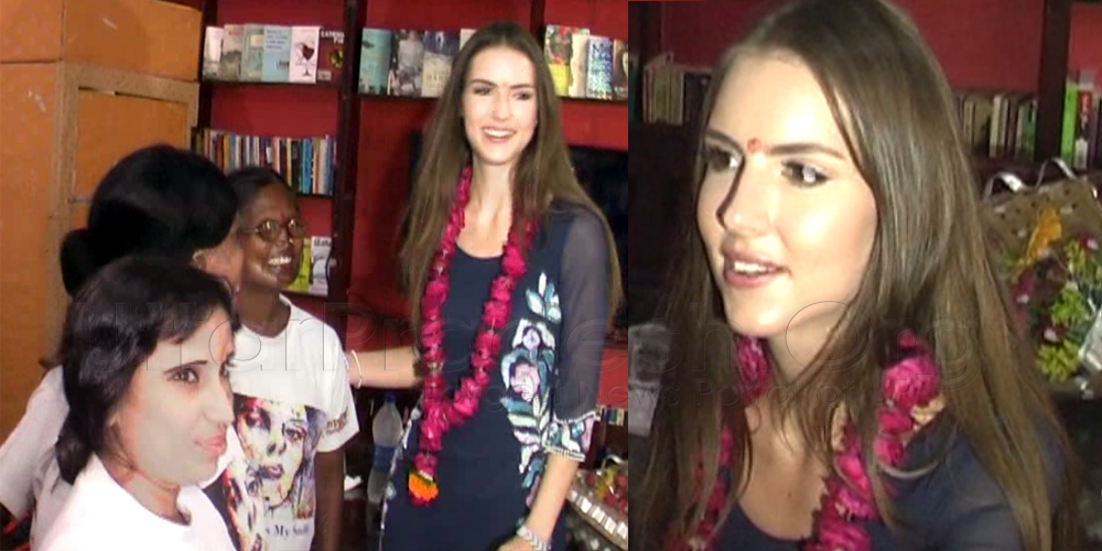 Miss Universe Great Britain sheroes hangout agra