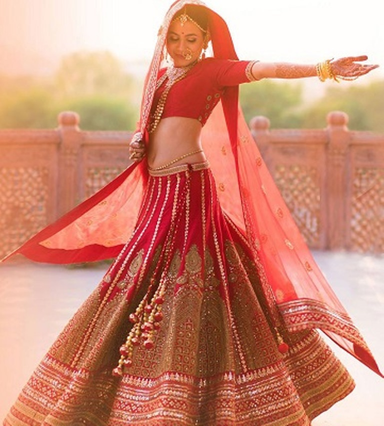 Flaunt your lehenga with a twist