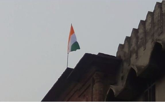 hoisted national flag down on 69 republic day