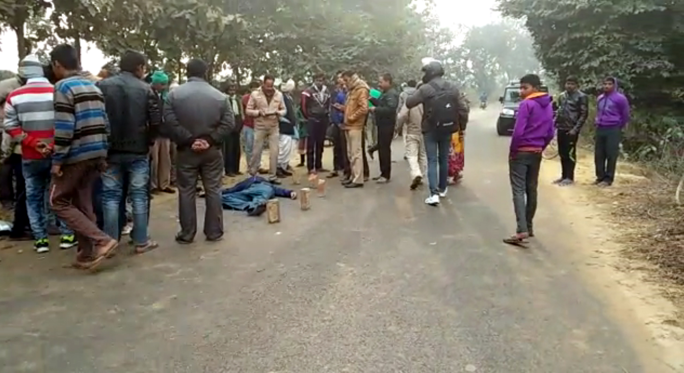 two died in road accident BKT Lucknow