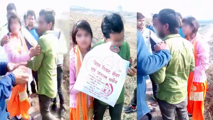Hapur: girl molested and fiance beaten by goons video goes viral