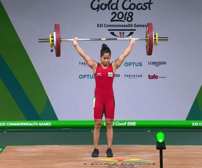 commonwealth-games-2018-sanjita-chanu-wins-2nd-gold-medal-for-india