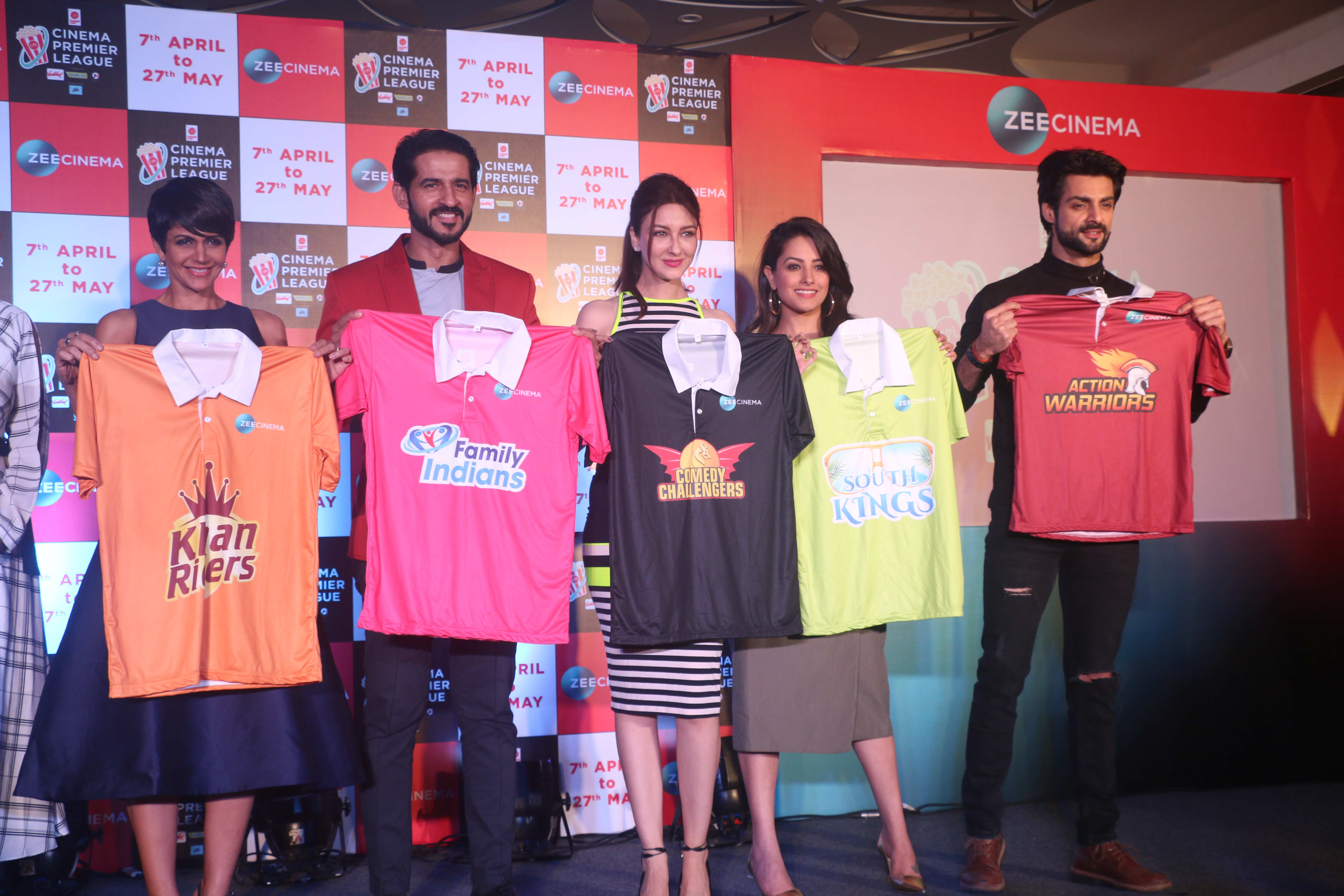 Television stars at the launch of Cinema Premier League to