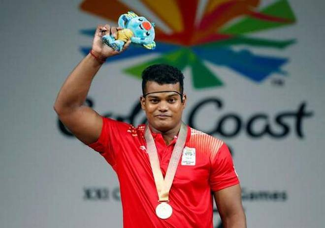 cwg-2018-weightlifter-rv-rahul-wins-fourth-gold-for-india