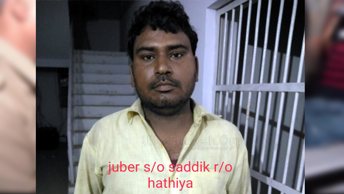 encounter in Mathura: wanted 50 thousand prize criminal Zubair arrested