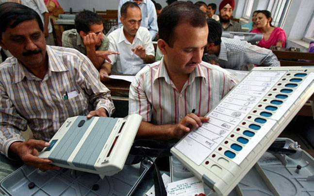 Live byelection: faulty EVM machine many booths maharashtra UP