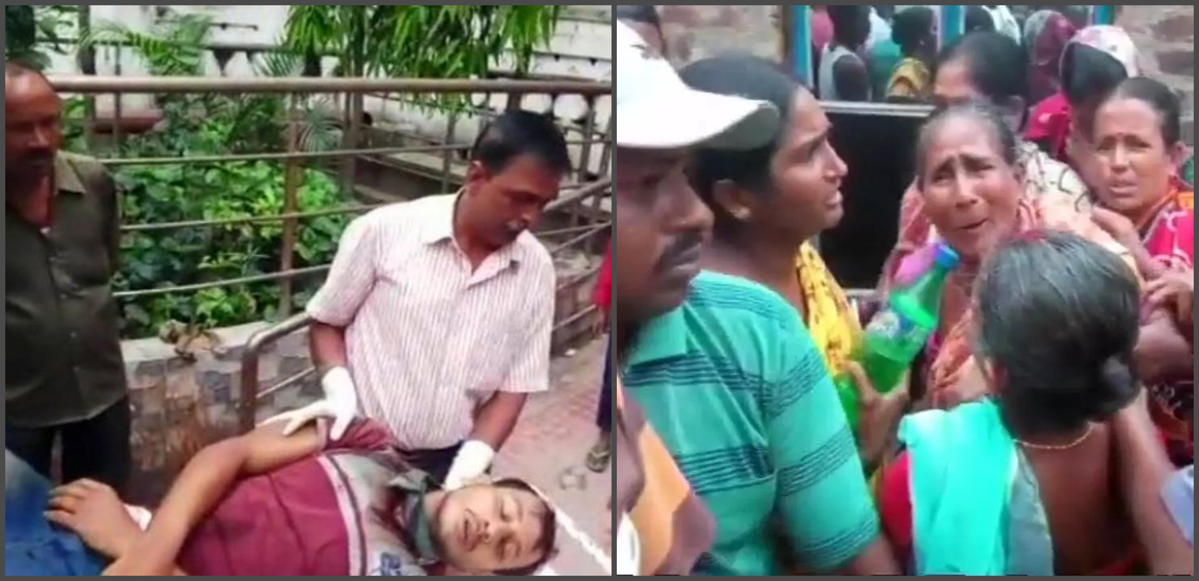 west-bengal-panchayat-elections polling tmc-workers-barring-voters