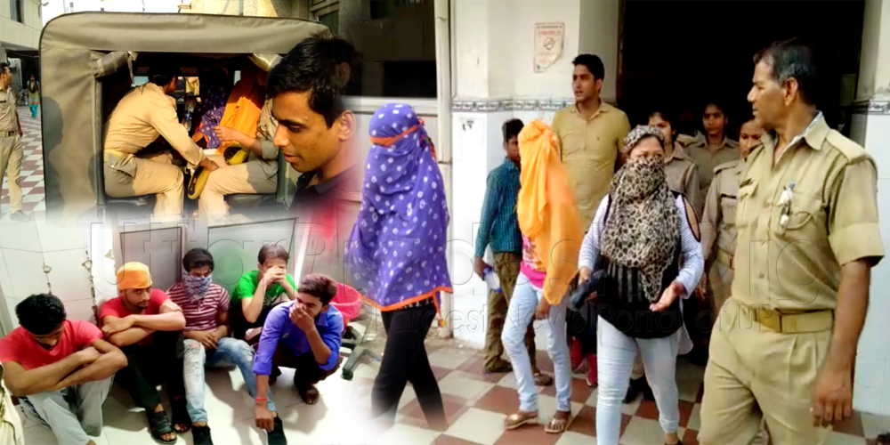 lucknow: High profile Sex racket busted online call girls booking video