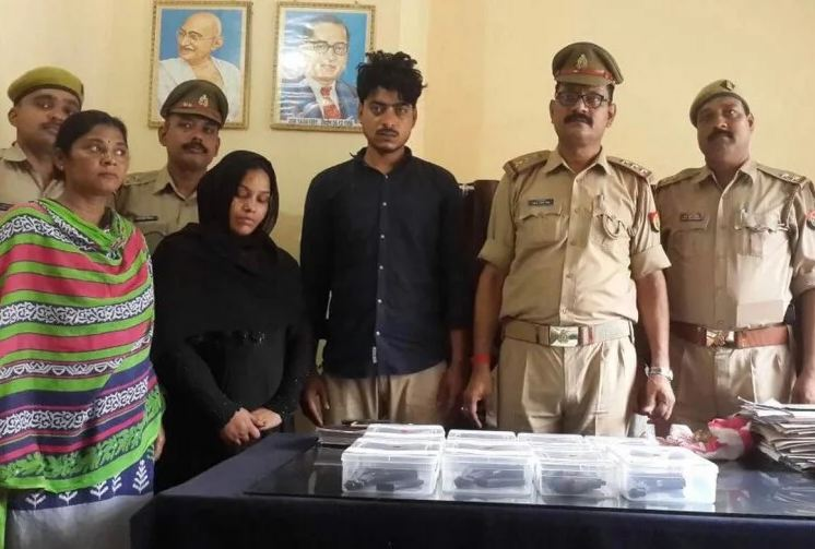 Two smugglers including women arrested 8 pistols recovered