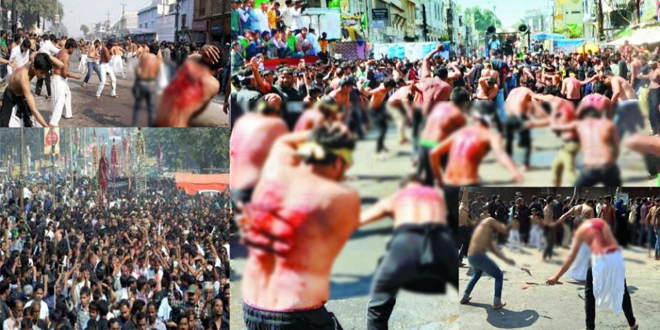 Lucknow: 10th Muharram Youm-e-Ashura Juloos With Matam