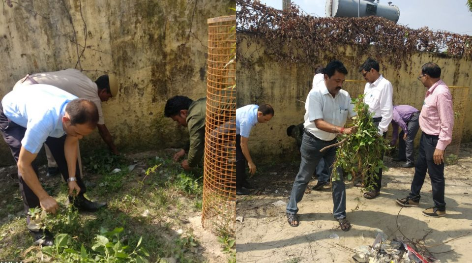 Transport Department with RTO cleaning their office
