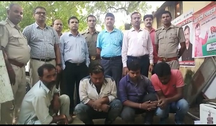 mathura police successfully caught illegal english beer