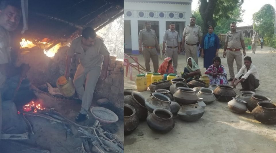 Excise Inspector recovers 130 liters liquor destroy 8 Furnaces