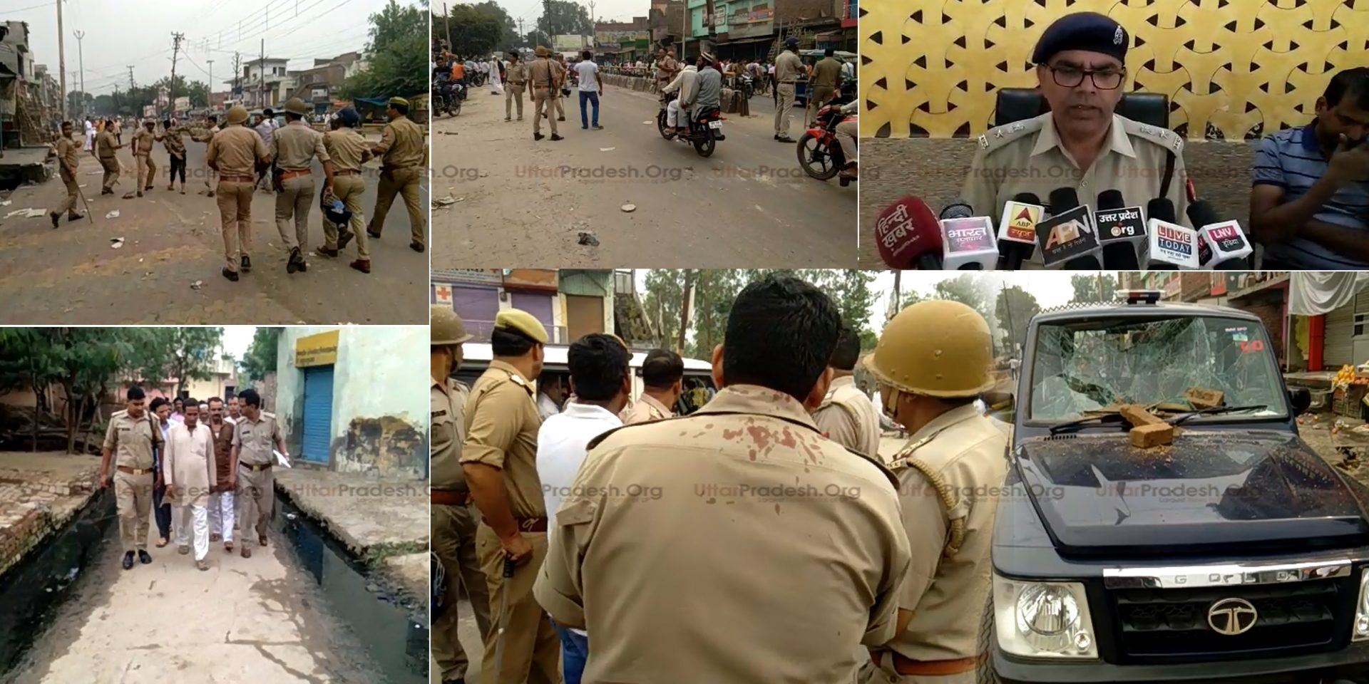 Four Cops Injured Attacks on Police Team During Accused of Molestation Arrested