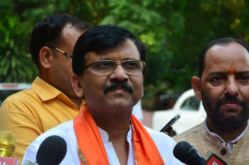 MP Sanjay Raut announced to support bjp if Ram temple ordinance