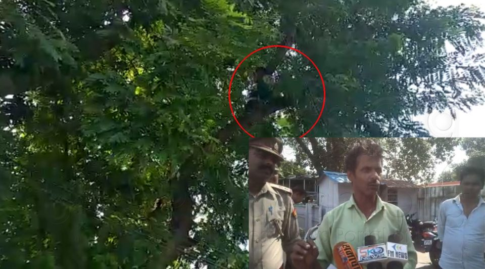 Man Climbed on Tree outside CM Yogi Residence Threatens Suicide