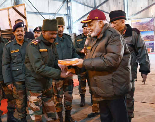PM Modi celebrates Diwali with soldiers 2018